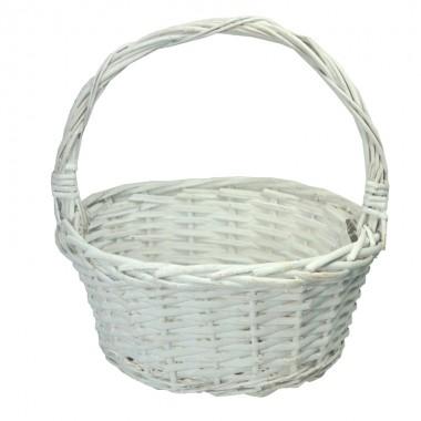 Корзина плетеная (ива) овальная, 26*20,5*12*26,5см, цвет белый