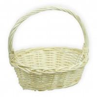 Корзина плетеная (ива) лукошко, 28*20*10см, цвет натуральный
