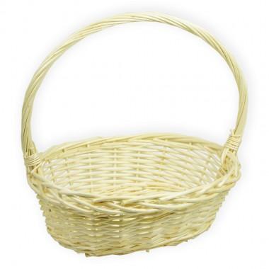 Корзина плетеная (ива) лукошко, 33*25*12см, цвет натуральный