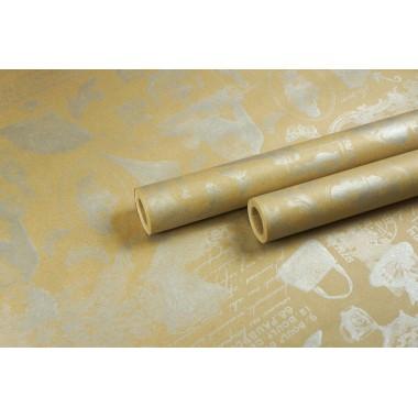 """Крафт бумага, рис. """"Лаванда-NEXT"""" (серебро) 0,7м*10м"""
