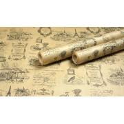 """Крафт бумага, рис """"Париж"""", рулон листов 76,2см*162см (6шт), общий метраж 9,72м 50г/м2"""
