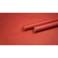 Крафт бумага с однотонной заливкой (красный) 0,7м*9м