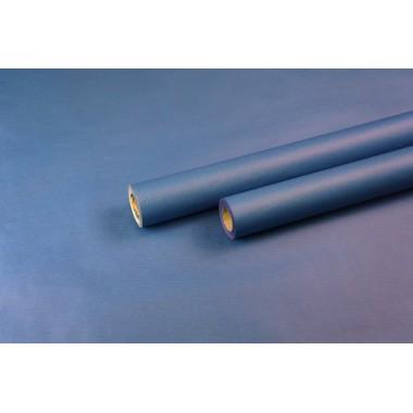 Крафт бумага с однотонной заливкой  (синий) 0,7м*9м