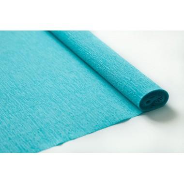 Бумага крепированная 50см*2,5м (цвет голубой)