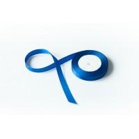 Лента атласная, 16мм*23м (цвет синий)