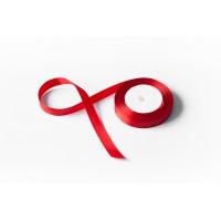 Лента атласная, 16мм*23м (цвет красный)