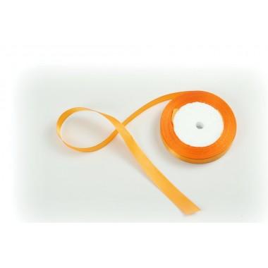 Лента атласная, 20мм*23м (цвет апельсиновый)