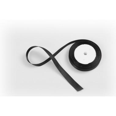 Лента атласная, 16мм*23м (цвет черный)