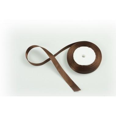 Лента атласная, 16мм*23м (цвет шоколад)