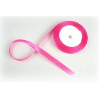Лента атласная, 10мм*23м (цвет ярко-розовый)