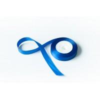 Лента атласная, 20мм*23м (цвет синий)