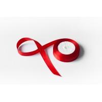 Лента атласная, 20мм*23м (цвет красный)