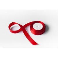 Лента атласная, 26мм*23м (цвет красный)
