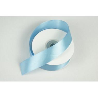 Лента атласная, 25мм*25м (цвет голубой)
