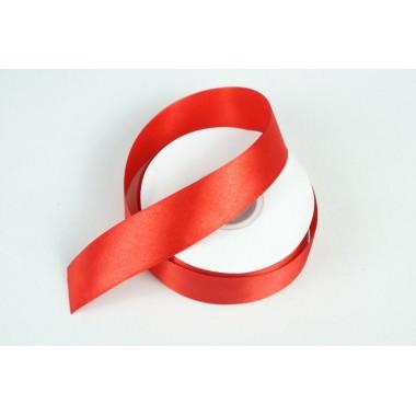 Лента атласная, 25мм*25м (цвет красный)