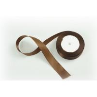 Лента атласная, 26мм*23м (цвет шоколад)