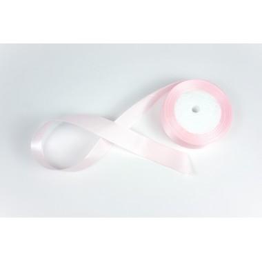 Лента атласная, 26мм*23м (цвет нежно-розовый)