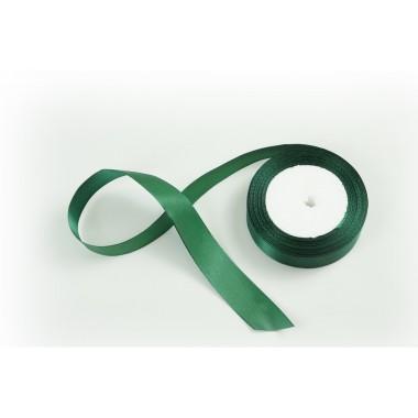 Лента атласная, 26мм*23м (цвет темно-зеленый)