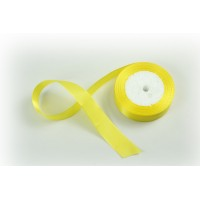 Лента атласная, 26мм*23м (цвет желтый)