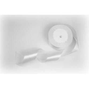 Лента атласная, 40мм*23м (цвет белый)