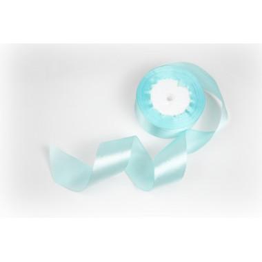 Лента атласная, 40мм*23м (цвет голубой)