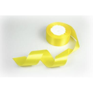 Лента атласная, 40мм*23м (цвет желтый)