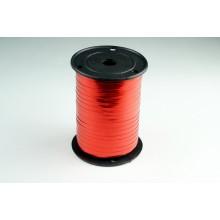 Лента металлизированная полипропиленовая, 0,5см*229м (цвет красный)