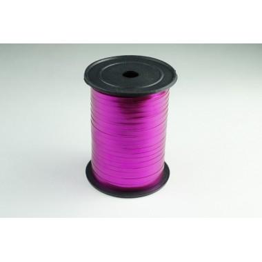 Лента металлизированная полипропиленовая, 0,5см*229м (цвет малиновый)