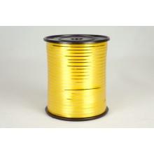 Лента металлизированная полипропиленовая, 0,5см*229м (цвет золотой)