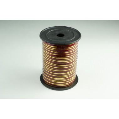 Лента полипропиленовая, 0,5см*229м (цвет бордо с золотым)