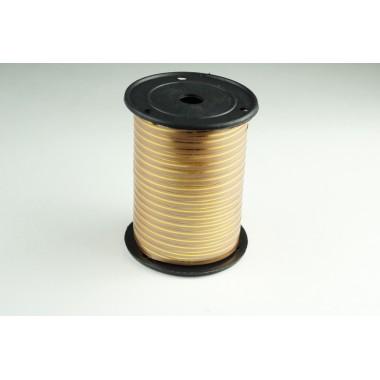 Лента полипропиленовая, 0,5см*229м (цвет бронза с золотым)