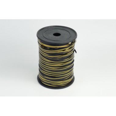 Лента полипропиленовая, 0,5см*229м (цвет черный с золотым)