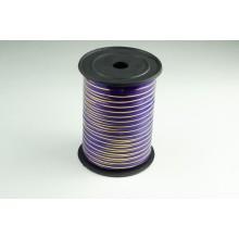 Лента полипропиленовая, 0,5см*229м (цвет фиолетовый с золотым)