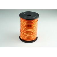 Лента полипропиленовая, 0,5см*229м (цвет оранжевый с золотым)