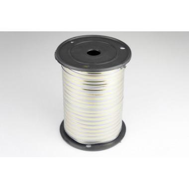 Лента полипропиленовая, 0,5см*229м (цвет серый с золотым)