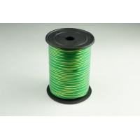 Лента полипропиленовая, 0,5см*229м (цвет зеленый с золотым)