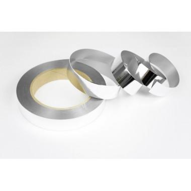 Лента металлизированная полипропиленовая, 2см*45м (цвет серебро)