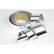Лента металлизированная полипропиленовая, 5см*45м (цвет серебро)