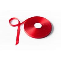 Лента репсовая, 16мм*91,5м (цвет красный)