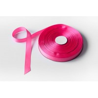 Лента репсовая, 20мм*91,5м (цвет ярко-розовый)
