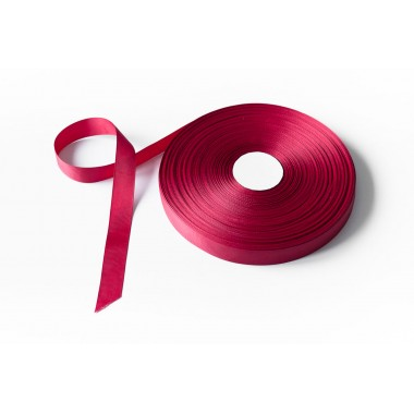 Лента репсовая, 16мм*91,5м (цвет бордо)