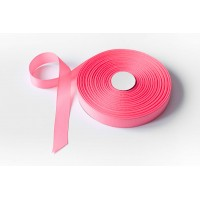 Лента репсовая, 26мм*91,5м (цвет ярко-розовый)