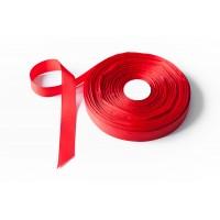 Лента репсовая, 26мм*91,5м (цвет красный)