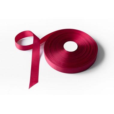 Лента репсовая, 26мм*91,5м (цвет бордо)
