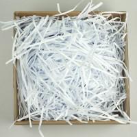 Стружка бумажная, 100гр (цвет белый)