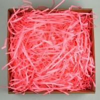 Стружка бумажная, 100гр (цвет розовый)