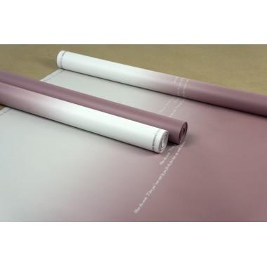 """Пленка матовая корейская """"градиент"""", (цвет пепельно-розовый) 58см*10м, 50мкм"""