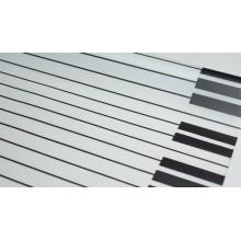 """Пленка матовая корейская """"клавиши"""" 58см*10м (цвет белый)"""