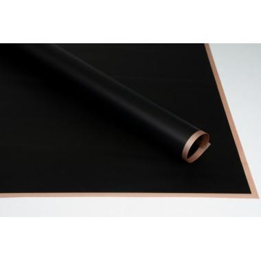 Пленка листовая матовая с кантом 58см*58см, 20шт. в уп. (цвет черный)