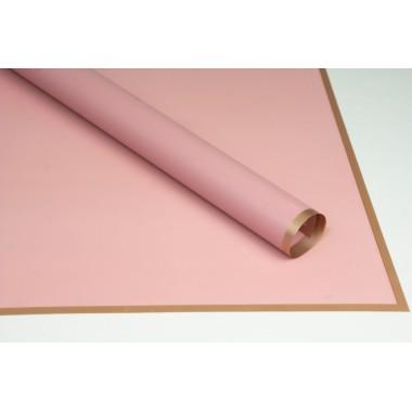 Пленка листовая матовая с кантом 58см*58см, 20шт. в уп. (цвет пепельно-розовый)